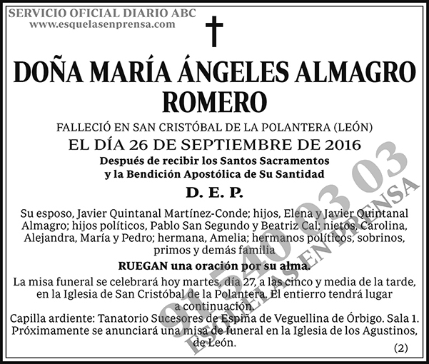 María Ángeles Almagro Romero